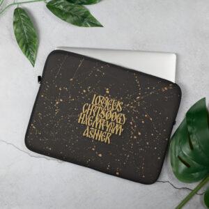 Privé: Housse pour ordinateur portable : Prière de Jésus, version sombre
