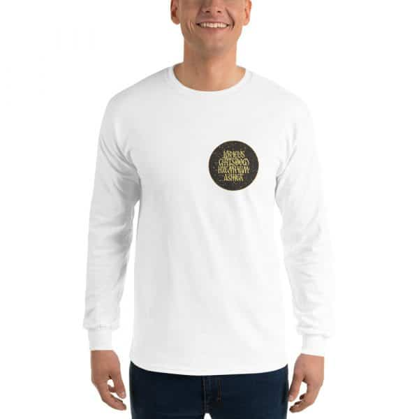 Privé: Chemise à manches longues pour homme : Prière de Jésus, version sombre