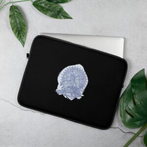 Privé: Housse pour ordinateur portable : Saint Georges le Tropéophore (bleue)
