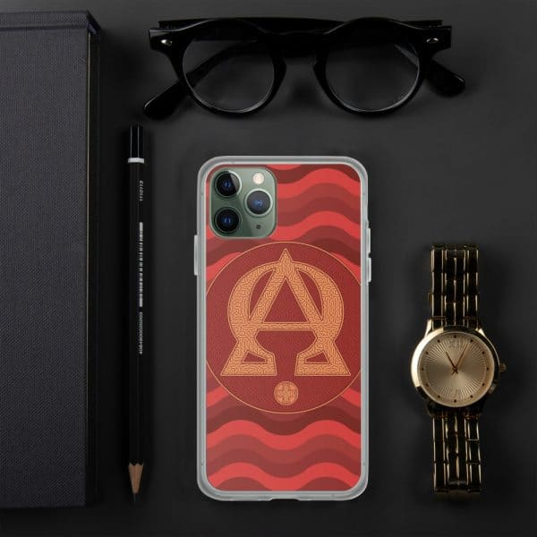 Coque d'iPhone : Alpha et Omega, version rouge