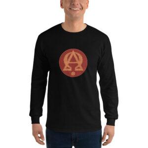 Privé: Chemise à manches longues pour homme : Alpha et Omega, version rouge