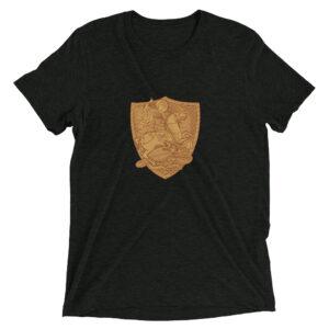 Privé: T-shirt en coton mélangé : Saint Georges le Tropéophore (or)