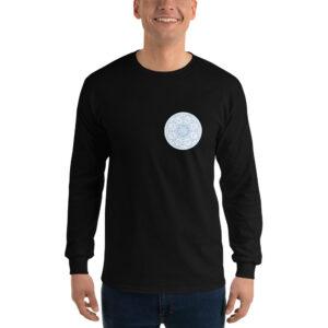 Privé: Chemise à manches longues pour homme : Prière de Jésus, version bleu clair