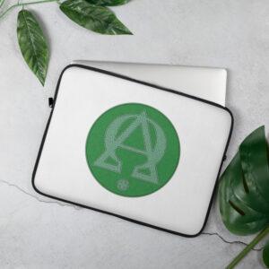 Privé: Housse pour ordinateur portable : Alpha et Omega, version verte