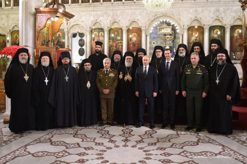 Le président russe Vladimir Poutine a visité la cathédrale patriarcale de la Dormition à Damas
