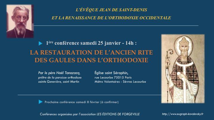 Une conférence du P. Noël Tanazacq sur la restauration du rite des Gaules