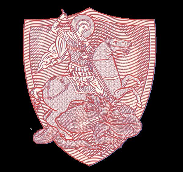 Housse pour ordinateur portable : Saint Georges le Tropéophore (blason rouge)