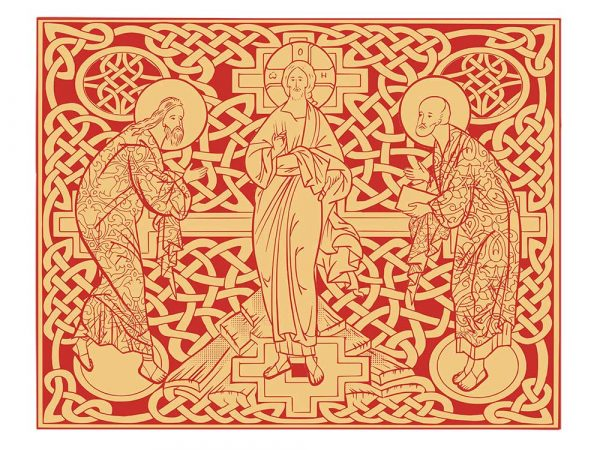 Housse pour ordinateur portable : La Transfiguration du Christ, version rouge