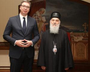 Le patriarche de Serbie a reçu le président serbe Vučić et a évoqué avec lui la situation au Monténégro
