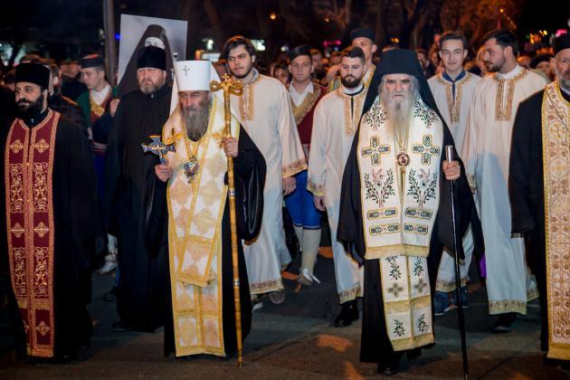 Le métropolite de Kiev et de toute l'Ukraine Onuphre a reçu un accueil chaleureux à Podgorica