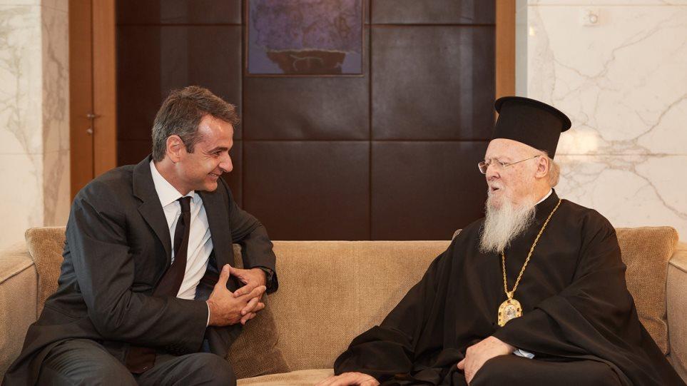 Rencontre du patriarche Bartholomée et du Premier ministre grec à Abou Dabi