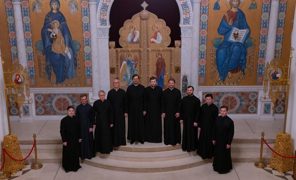 L'enregistrement d'un CD du chœur d'hommes «Chantres orthodoxes russes» en projet