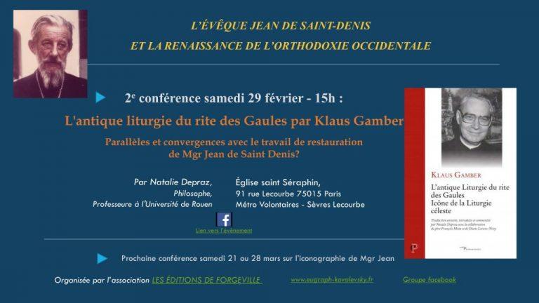 Conférence : «L'antique liturgie du rite des Gaules» par Natalie Depraz, le 29 février à Paris
