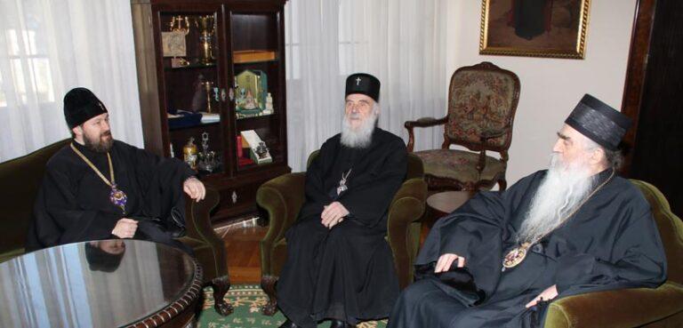 Le métropolite Hilarion de Volokolamsk est en visite à Belgrade