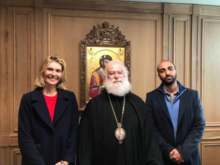 Le patriarche d'Alexandrie a rencontré la scénariste et régisseur du film « L'homme de Dieu » (Saint Nectaire d'Égine)
