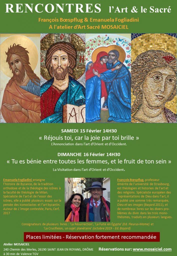 Une rencontre « L'art et le sacré », les 15 et 16 février sur l'Annonciation et la Visitation dans l'art d'Orient et d'Occident
