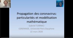 Gabriel Turinici : «propagation des coronavirus – particularité et modélisation mathématique»