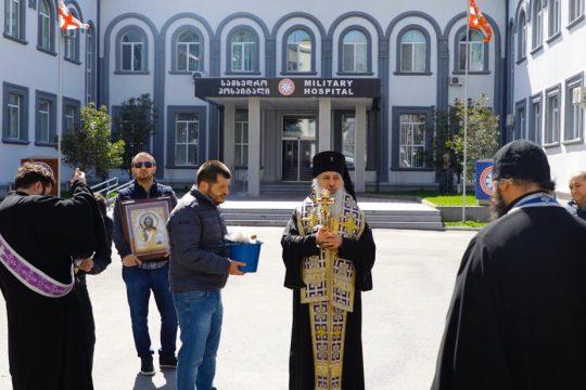 Georgian hierarch consecrates hospital serving as coronavirus quarantine zone