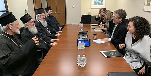 Patriarch of Serbia Irinej at the State Department