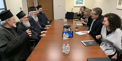 Le patriarche de Serbie Irénée a été reçu au Département d'État américain