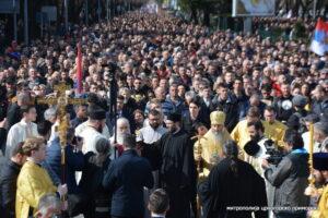 Le métropolite de Kiev Onuphre a présidé les festivités de saint Syméon le Myroblite et la procession à Podgorica, où 100.000 personnes étaient rassemblées