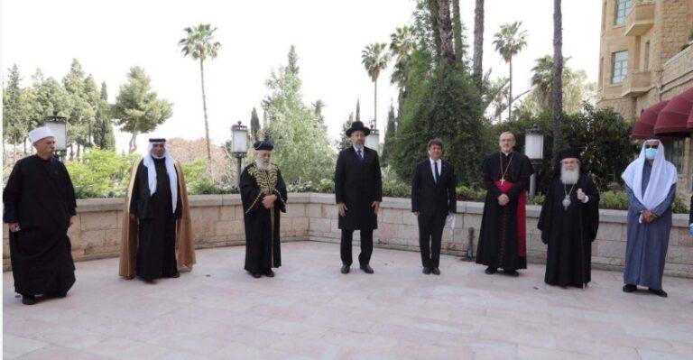 Les responsables religieux de Jérusalem prient ensemble pour la fin de la pandémie