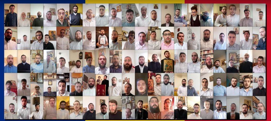 100 chantres roumains ont chanté ensemble en ligne le kondakion de l'Annonciation