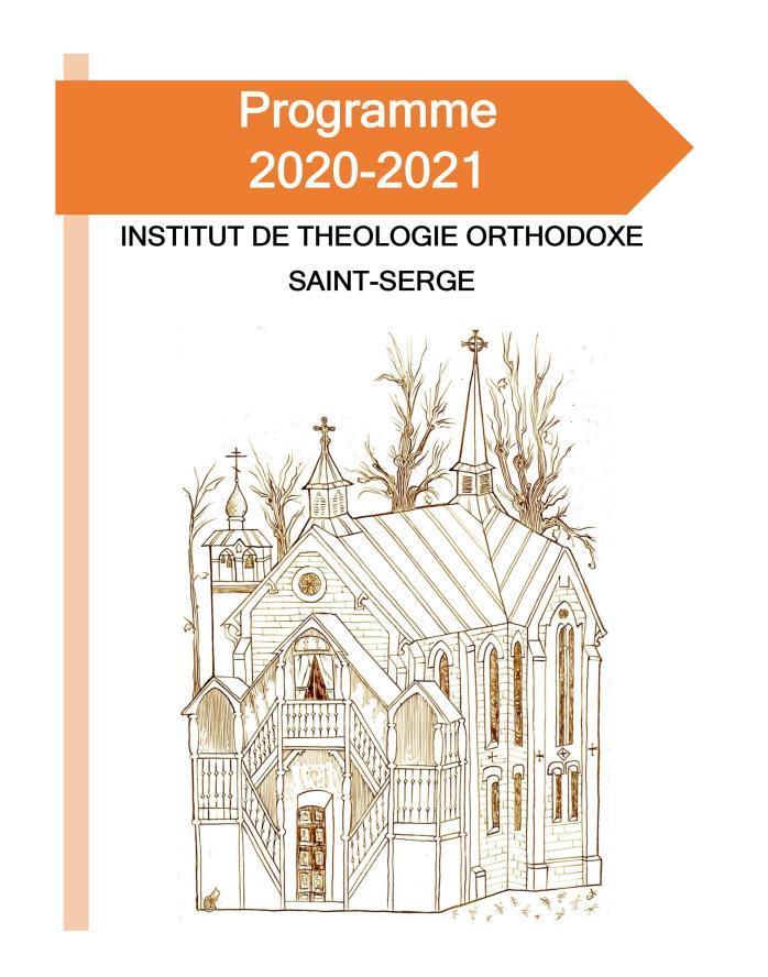 Le programme académique 2020-2021 de l'Institut de théologie orthodoxe Saint-Serge
