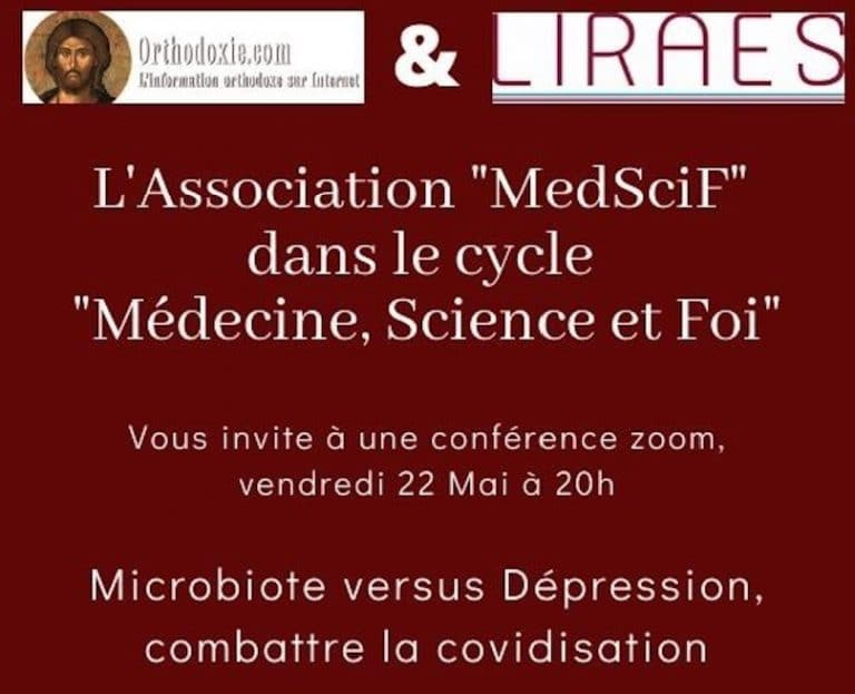 « Microbiote versus dépression, combattre la covidisation », nouvelle conférence dans le cycle « Médecine, science et foi » le vendredi 22 mai