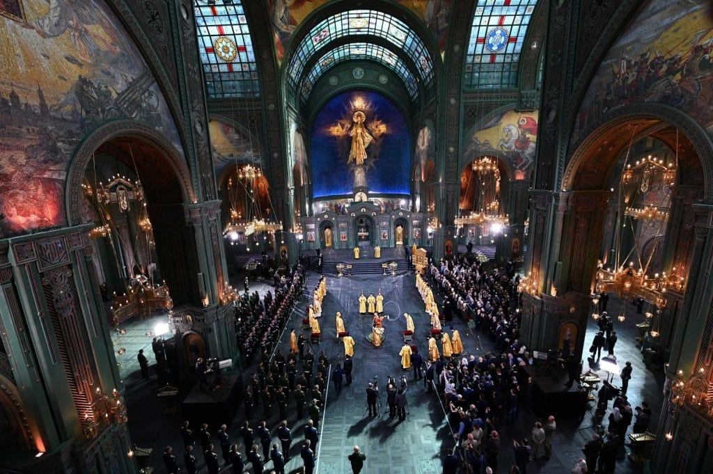 Consécration de la nouvelle cathédrale des forces armées à Moscou