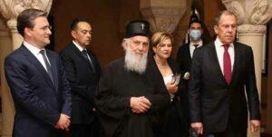 Le patriarche de Serbie Irénée a reçu Sergueï Lavrov