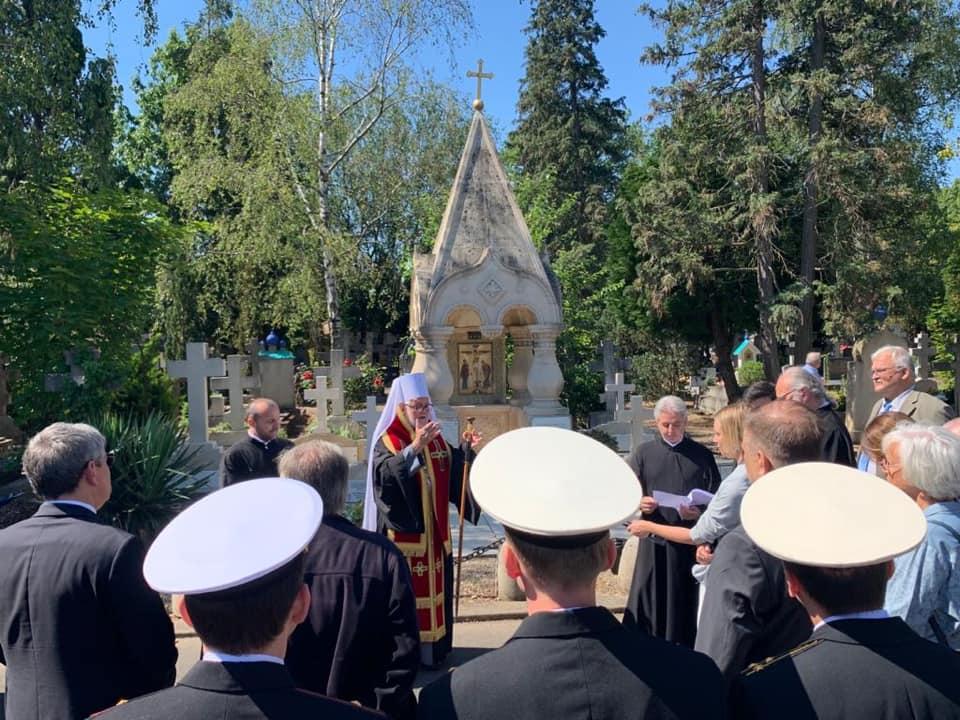Une plaque commémorative pour sainte Mère Marie Skobtsov au cimetière russe de Sainte-Geneviève-des-Bois