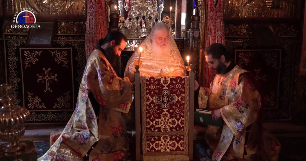 Vêpres de la Pentecôte au monastère de Vatopédi (vidéo)