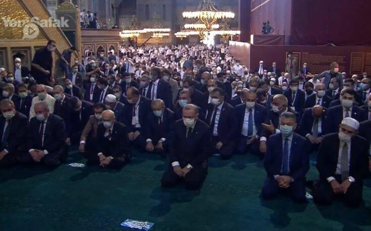 Le président turc Erdogan a assisté à la première prière musulmane à Sainte-Sophie