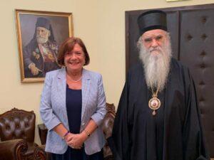 L'ambassadrice de France au Monténégro a rendu visite au métropolite Amphiloque