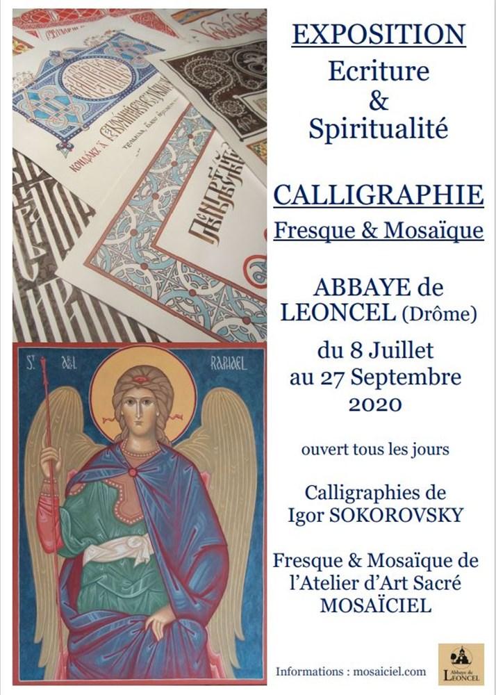Vercors : une exposition «Calligraphie iconographique» à l'abbaye de Léoncel