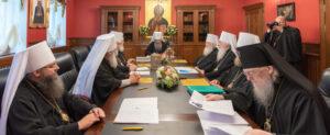 Réunion du Saint-Synode de l'Église orthodoxe ukrainienne