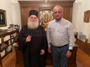 Le président Igor Dodon : « Je suis venu sur le Mont Athos pour prier pour la Moldavie »