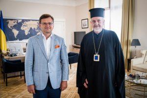 Rencontre entre Mgr Emmanuel, métropolite de France (Patriarcat de Constantinople) et le ministre des Affaires étrangères d'Ukraine