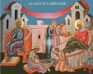 Office de la Nativité de la Mère de Dieu, en version bilingue slavon-français