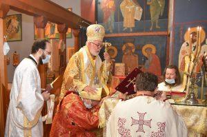 Ordination diaconale à Bruxelles à l'occasion de la fête de la paroisse dédiée aux saints Silouane l'Athonite et Martin de Tours