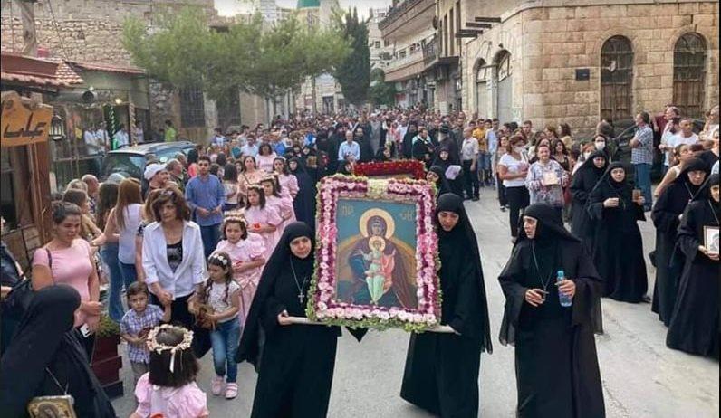 Fête de la Nativité de la Mère de Dieu à Seidnaya (Syrie)