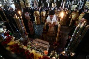 Fête la déposition de la ceinture de la Mère de Dieu au monastère athonite de Vatopédi