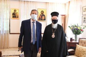 Rencontre du patriarche œcuménique avec un responsable de l'Unesco au sujet de la basilique de Sainte-Sophie et de l'église Saint-Sauveur-in-Chora