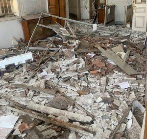 «Classé bâtiment historique, l'ancien archevêché grec-orthodoxe de Beyrouth a été ravagé par l'explosion du 4 août»