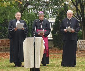 Mgr Emmanuel a participé à une cérémonie de la Saison de la Création