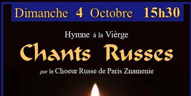 Concert du chœur « Znamenie » le 4 octobre à 15h30