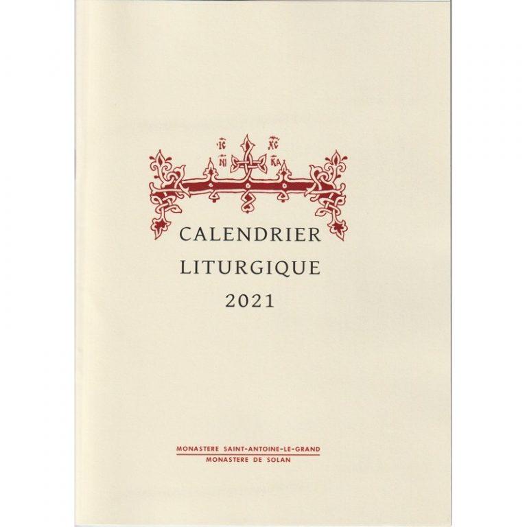 Le calendrier liturgique 2021