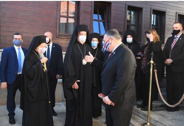 « C'est un honneur pour moi d'avoir rencontré Sa Toute-Sainteté » a déclaré M. Pompeo après sa visite au Phanar