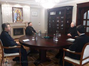 Le métropolite de France Emmanuel a rencontré l'archevêque uniate Sviatoslav à Kiev